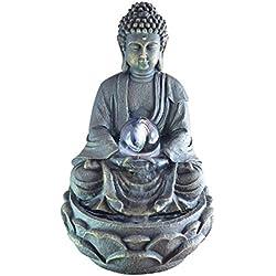 Zen Luz SCFR 8G Buddha Fuente Meditación Gran Interior Marrón Oscuro / Chocolate 21 x 21 x 30 cm