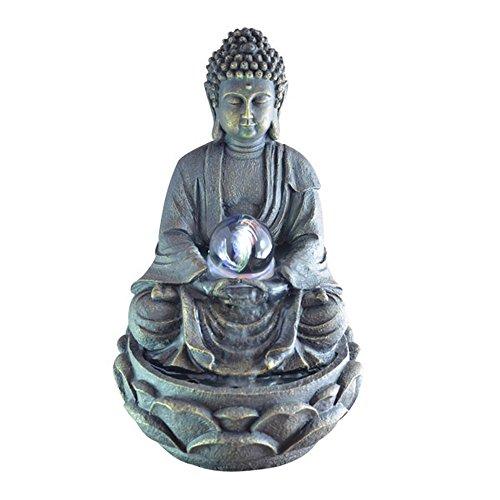 Fuente Meditación Buda con Luz