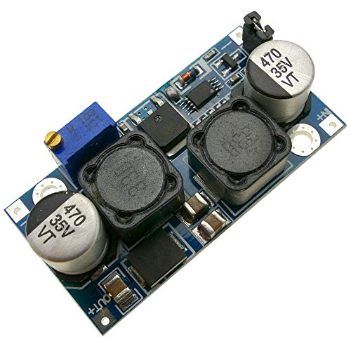 Fuente de alimentación DC-DC de 3-15V a 0.5-30V de 25W para placa solar (modelo DW-0388). Tamaño aproximado: 50 x 25 x 14 mm. Dispositivo pensado para integradores y diseñadores de circuitos electrónicos. Componentes electrónicos de alta calidad mont...