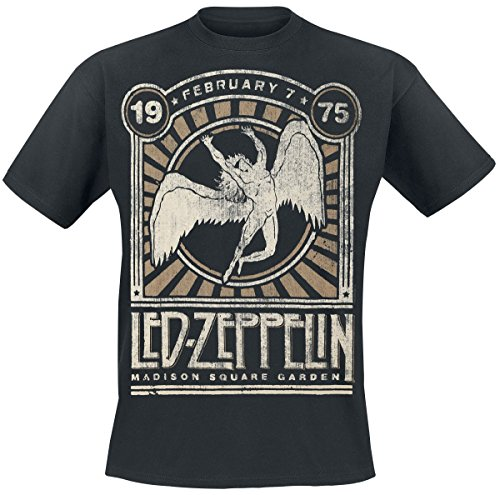 Led Zeppelin Madison Square Garden 1975 T-shirt noir L