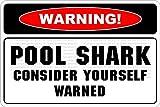 Aufkleber mit Aufschrift Warning Pool Hai, lustiges Privates Eigentum Warnschild, selbstklebend, 20,3 x 30,5 cm, 670