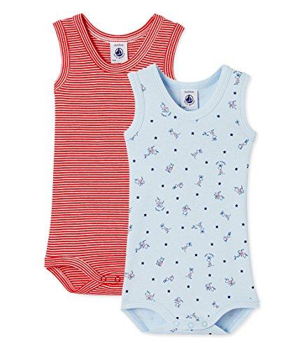 Petit Bateau Baby-Jungen Body SM_23189, 2er Pack, Mehrfarbig (Special 00), 98 (36m/95cm)