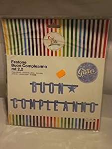 GiviItalia 54471 - Pancarta con purpurina, color azul claro