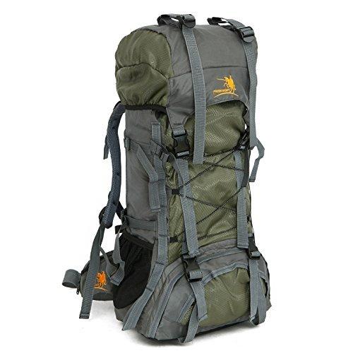 tomill 60L Rucksack Nylon Outdoor Sport Camping Bergsteigen Tasche Wandern Rucksack Große Kapazität für Reisen Grün