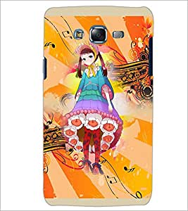 PrintDhaba Sweet Girl D-3053 Back Case Cover for SAMSUNG GALAXY ON 7 (Multi-Coloured)