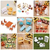 #10: Veena 7 Kids Tables Chairs 112 Dollhouse Miniature Furniture Plastic Chair Table Kitchen Garden Bath Set