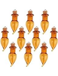 10 Frascos De Vidrio De Pimienta Corcho Frasco Que Desea Botellas C Lazo De Bricolaje Colgante De Cafe