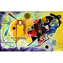 Vassili Kandinsky - Amarillo Rojo Azul Póster Impresión Artística (90 x 60cm)