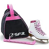 Sfr Skates SFR008, Set per Pattini da Ghiaccio Unisex Bambini, Bianco, 29