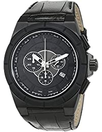 Cerruti 1881 CT100801X01 - Reloj de pulsera Hombre, Cuero, color Negro