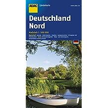 ADAC Länderkarte Nord-Deutschland 1:500.000