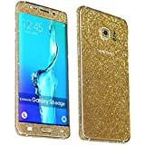 Heartly Sparking Bling Glitter Crystal Diamond Protective Film Whole Body Phone Skin Sticker For Samsung Galaxy S6 Edge+ Plus - Champagne Gold