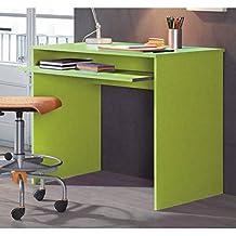 Mesa de estudio y ordenador verde de 90x60 cm y 79 cm de alto