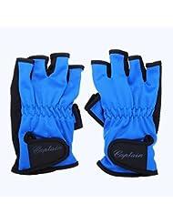 Lelantus Guantes antideslizantes semi-dedo guantes guantes de pesca deportivas al aire libre
