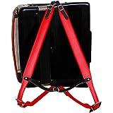 Música Primera Rojo Piel Auténtica Super amplia grueso cómodo 96Correa de Hombro para acordeón de 120unidades Acordeón Acordeón Cinturón Correas