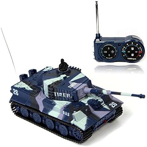 Malloom® Nuevo mini 1:72 49MHz R/C control remoto por radio tanque de tigre 20M niños de juguete Regalo (armada)