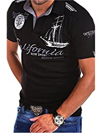 MYTRENDS Styles MT Styles Poloshirt CALFOR T-Shirt R-2371