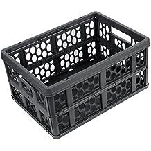Negro plástico sostenedor de la fruta vegetal caja de almacenaje plegable para el coche