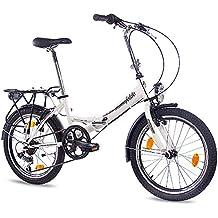 50.8 cm pulgadas bicicleta plegable CHRISSON FOLDO con 6 velocidades para bicicleta Shimano colour blanco mate
