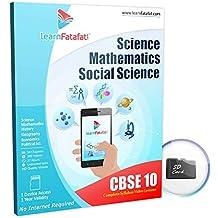 CBSE Class 10 Maths, Science SST Course (SD Card)