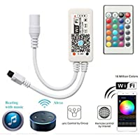 Mini RGB Led Streifen Kontroller mit Alexa,Wifi/App gesteuert,Fernbedienung Arbeiten Controller mit Android und IOS System 5V-28V Für alle 3528 5050 2835 led strip
