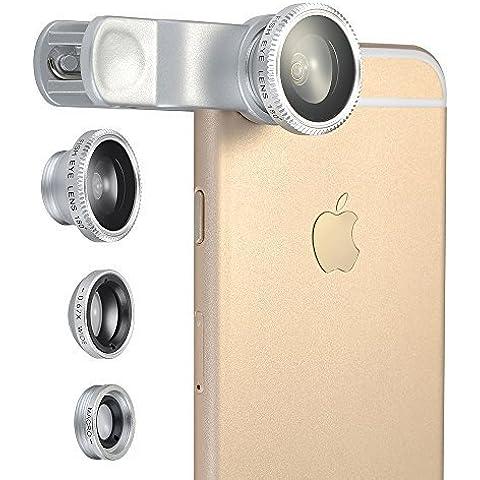 VicTop 3 en 1 Ojo de Pez de Pinza para iPhone 6s 6 6 Plus 5 5C 5S 4S 4 3GS iPad iPad mini 4 3 2 Samsung Galaxy S4 S3 S2 Nota 3 2 1 Sony Xperia L36h L36i HTC