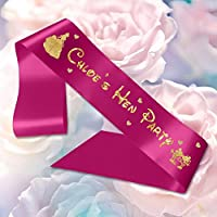 Personalised Sash Ribbon Disney Princess Mickey and Minnie Hen Do Party Weekend Any Wording Customisation Birthday Hen Party Stag Do Baby Shower Celebration (Hot Pink)
