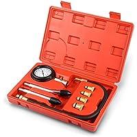 VETOMILE Kit de Prueba de Compresión de Cilindro Motor 0-21 kg / cm2, Kit de Herramienta de Probador de Compresión