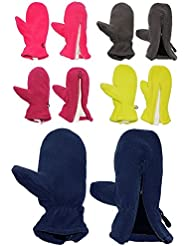 """Fausthandschuhe - Fleece - mit Reißverschluß - Größen: 1 bis 5 Jahre - """" Freie Farbwahl """" - LEICHT anzuziehen ! mit Daumen - Fleecehandschuhe / Kinder & Babyhandschuhe - Fausthandschuh Handschuh Fäustling - Mädchen Jungen Kinderhandschuhe / Handschuhe / Thermo"""