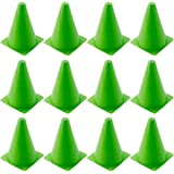 BESPORTBLE 12pcs Plastic Training Cones Mini Traffic Cones Birght Color Roadblocks for Soccer Football Skating Running Party