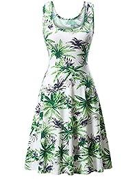 Bringbring Womens Sleeveless Summer A Line Casual Dress