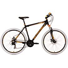 "KS Cycling Compound - Bicicleta de montaña, color negro / amarillo / blanco, ruedas 27,5"", cuadro 51 cm"