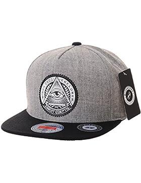 WITHMOONS Gorras de béisbol gorra de Trucker sombrero de Snapback Hat Illuminati Patch Hip Hop Baseball Cap AL2344