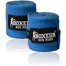 Boxeur Des Rues Fight Activewear Fasce per le Mani Semi-rigide, Blu, Taglia Unica