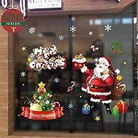 Yuson Girl NoëL Autocollants Fenetre NoëL Décoration Fenêtres Stickers Muraux Amovibles Mur De FenêTres En Vinyle DIY Autocollants DéCalcomanie