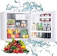 TECCPO Mini Réfrigérateur à Porte Réversible, 46L, 7 Réglages de Température, 37 dB, pour Dortoir, Bureau TAMF