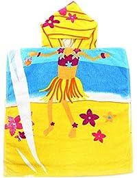 Bebé de la toalla de baño de los niños de Juleya embroma el algodón encapuchado 50 * 100cm del poncho
