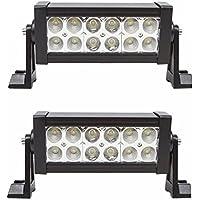 LARS360 36W auto illuminazione lampada da lavoro LED Light Bar Offroad Faro ausiliario faro da lavoro impermeabile IP67 per 4 WD Auto Jeep SUV ATV (2 pezzi) - Bar Atv