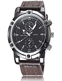 iSweven Fashion Wrist Watch Analogue Black Dial Men's Watch - w1056d