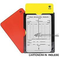 B&D - Juego de 2 tarjetas para árbitro de fútbol (una roja y otra amarilla) con bloc de notas