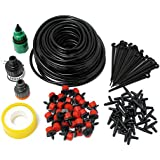 Nimble House ®™ 25m 30 Drip Nozzles DIY for Garden Watering Sprinklers Plants Irrigator Dripper Hose Kits Greenhouse Drip Irrigation System