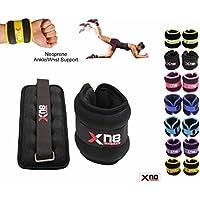 Hand-/Fußgelenkgewichte aus Neopren mit Klettverschluss, Schwarz, verstellbare Bein-/ Handschlaufe, zum Laufen Cross-Fitness Gymnastik Training Übungen