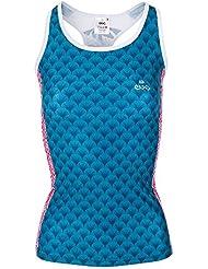 EveSportsWear Nintai Camiseta Tirantes, Mujer, Azul, XL