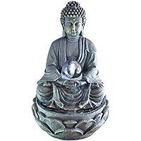 Zen Light SCFRB8G mediation Large Buddha Indoor Fountain, Dark Chocolate Brown 21 x 21 x 30 cm