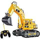 Top Race® 7 Canales Completamente Funcional RC Excavadora, Alimentada por una Batería Eléctrica RC Control Remoto Construcción Tractor con Luces y Sonido (TR-111)