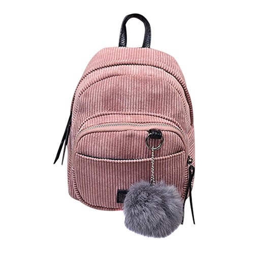 Espeedy Neue Mode Cord Streifen WomenBackpack Girs Shcool Tasche für Studenten Schulter Preppy Rucksack Rucksäcke Reise Neue Cord