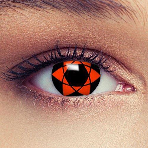 Rote farbige Kontaktlinsen für Naruto Sasuke's Mangekyou Cosplay Farblisnen in rot Design: Naruto 5