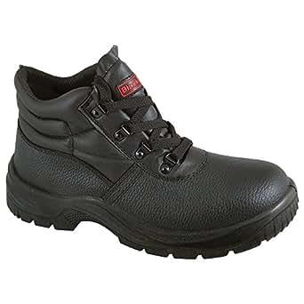 Blackrock - Scarpe antinfortunistiche in pelle nera con punta e suola di acciaio