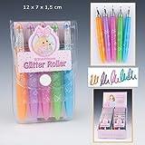 Top Model - Set de bolígrafos de purpurina de colores fluorescentes