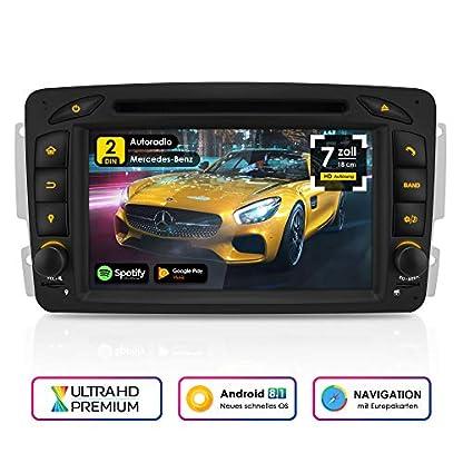 NEOTONE-MAX-610A-2DIN-Android-Autoradio-fr-Mercedes-Benz-ACCLKMMLVianoVito-Navigation-mit-Europakarten-2019-DAB-Untersttzung-DVD-WLAN-OBDII